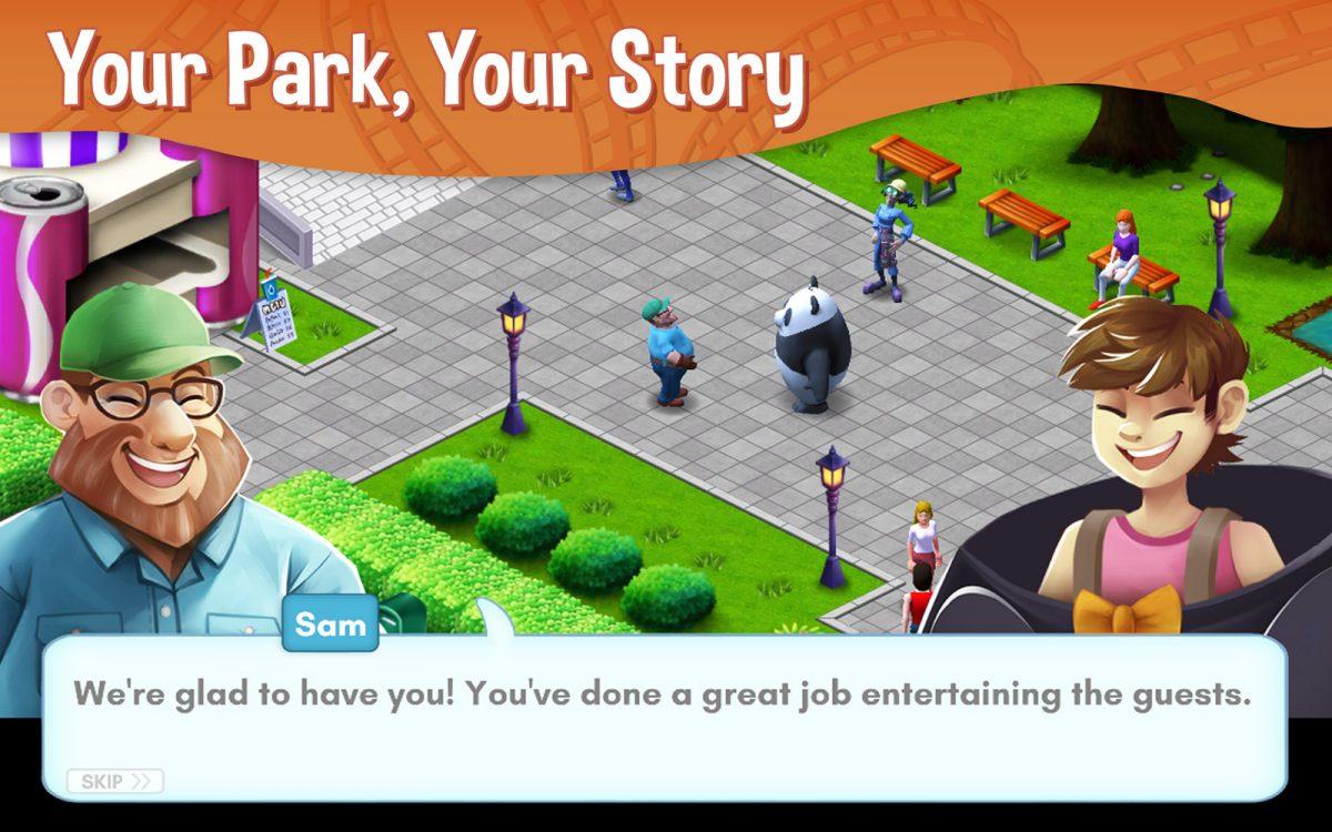RollerCoaster Tycoon Story Screenshot